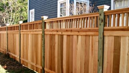 pine fence posts