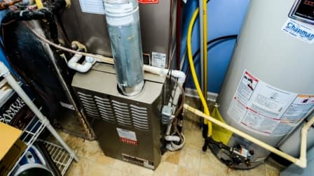HVAC system in home