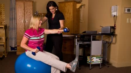 A physical therapist can help create a treatment plan to target your pain and gradually relieve it. (Photo by Karen Geswein)
