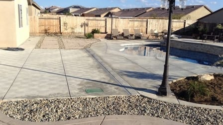 sustainable backyard concrete rock