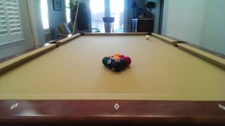 The Pool Table Had To Be Relocated To Its New Home. (Photo Courtesy Of