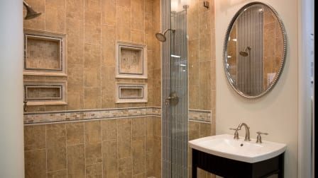 Custom Bathroom Vanities Long Island Ny how much does a bathroom remodel cost? | angie's list