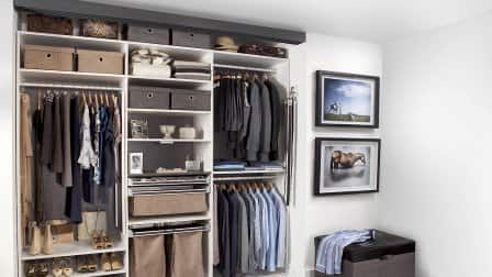 get your cluttered closet in order with some basic ideas photo courtesy of