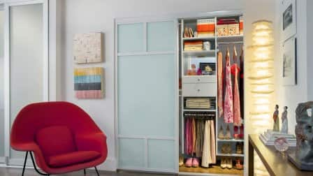 Small closets have a habit of getting messy quickly. (Photo courtesy of Morgan and Jamie Molitor)