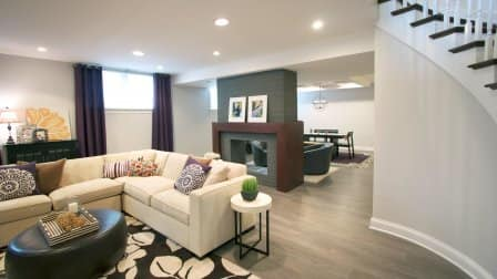 A finished basement adds valuable space to any home. (Photo courtesy of MacKenzie Cain/Habitar Design)