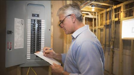 cost to replace a circuit breaker box angie's list Cost Of A New Fuse Box home inspector checks breaker box cost of a new fuse box