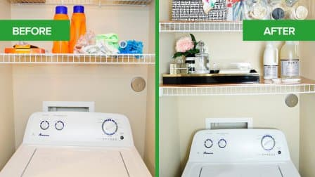 Monica Benavidez's Laundry Room refresh Before & After