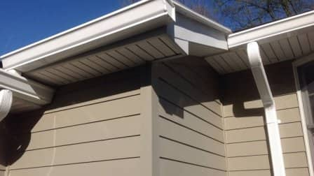 Sometimes excess debris can get clogged in your gutters, which will block the passage of water, says Smith. (Photo courtesy of Angie's List member Mary K. of Washington)