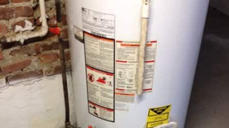 If you notice moisture around your water heater, you may need to replace it, says Carpenter. (Photo courtesy of Angie's List member Zack H. of Boston)