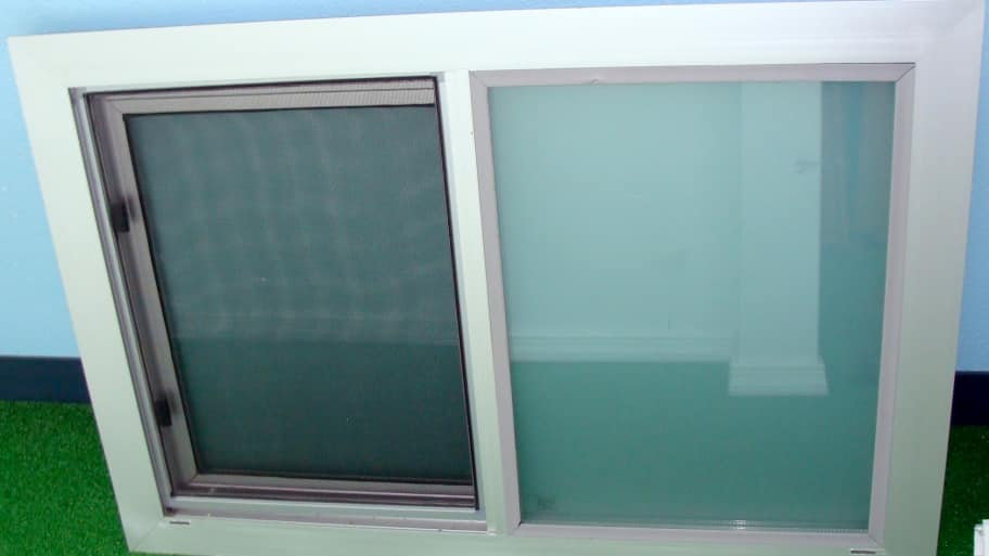 aluminum replacement window for a home