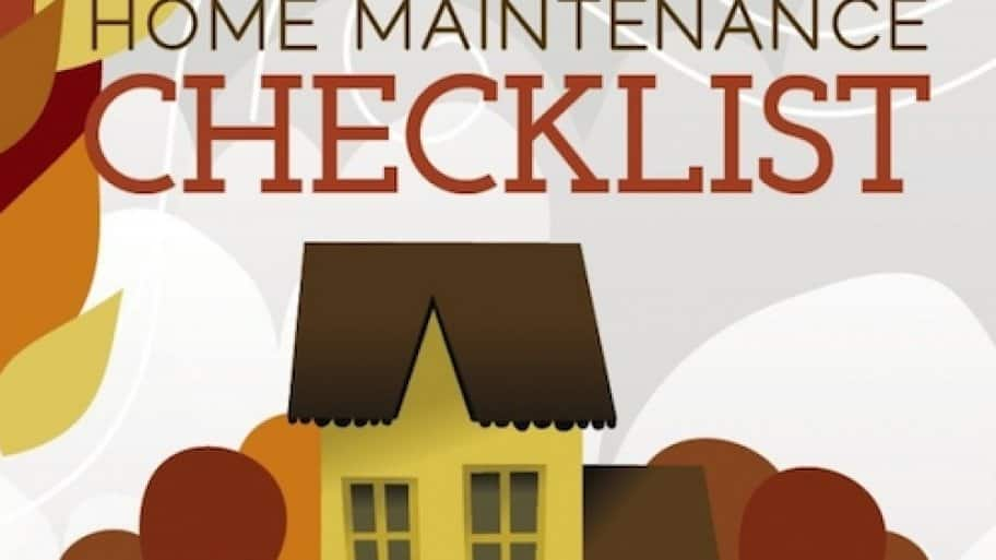 fall home maintenance infographic header