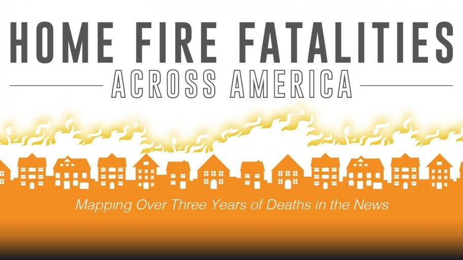 header graphic illustrating row of houses on fire