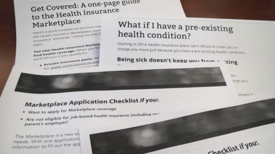 several one page guides with questions and answers frequently asked by consumers shopping for health insurance.