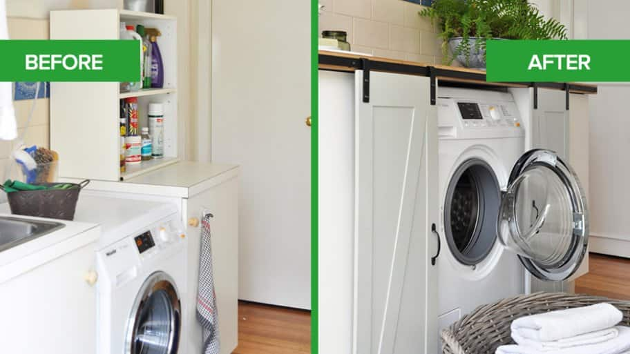 Kristine Franklin Laundry Room Refresh Before After