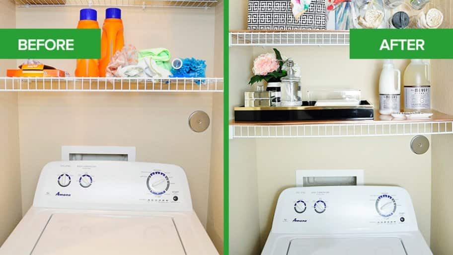 apartment laundry room refresh gets a pop of color | angie's list