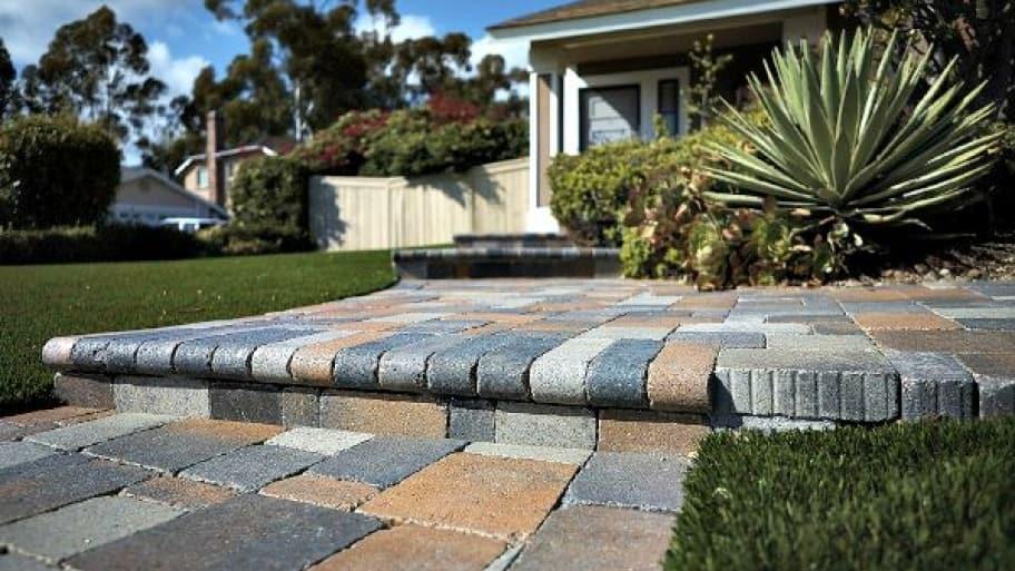 walkway made of pavers