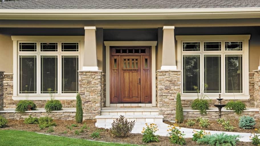 Most door manufacturers offer Craftsman exterior doors with modern ...