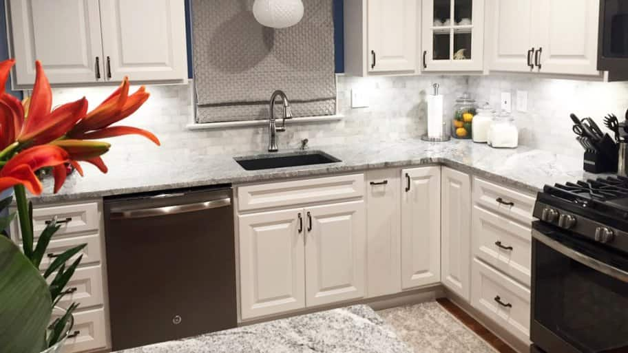 beautiful Cost Of Painting Kitchen Cabinets #4: white painted kitchen cabinets