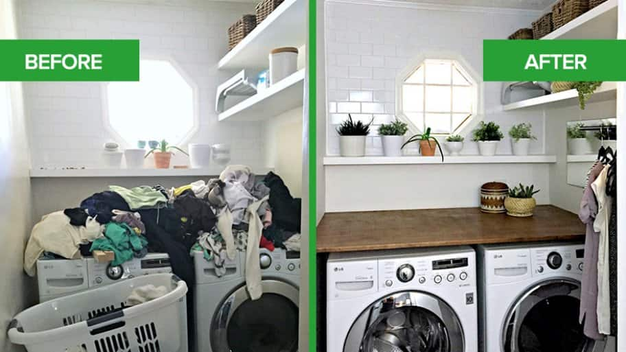 Laundry Room Refresh Procrastination Station Transforms Into Productive