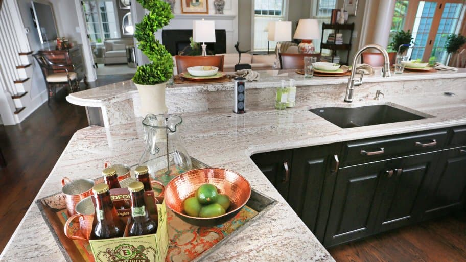 delightful How Much Do Kitchen Counters Cost #6: white granite countertop