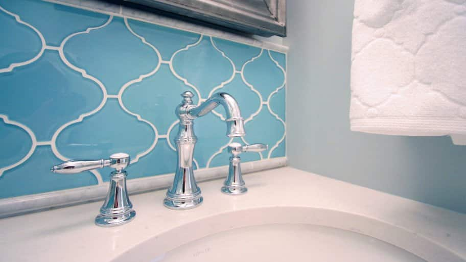 Don't forget to consider the grout when you choose the tile for your kitchen or bathroom. (Image courtesy of Habitar Design)