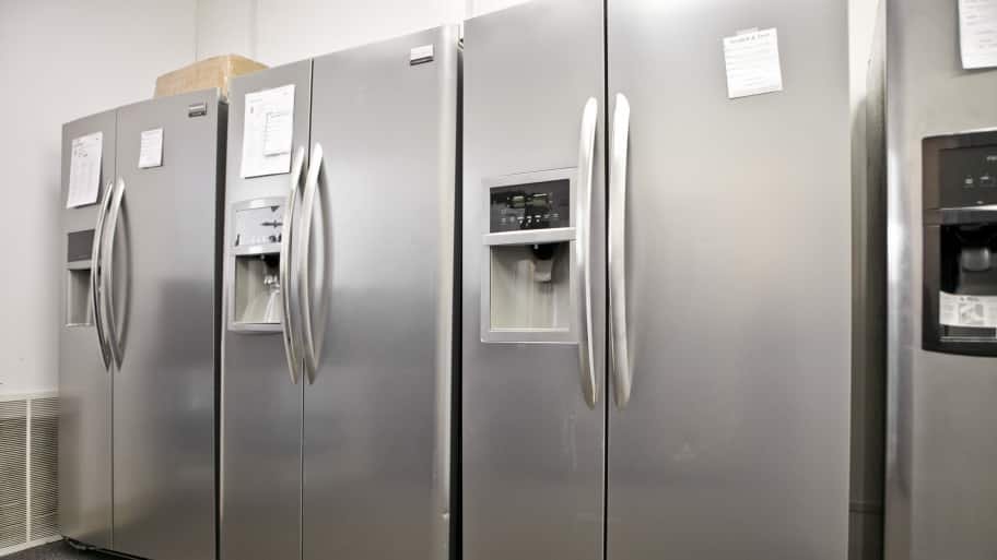 delightful Kitchen Appliance Extended Warranty #1: Refrigerators in a showroom