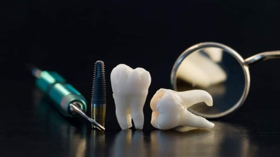 teeth and dentist tools