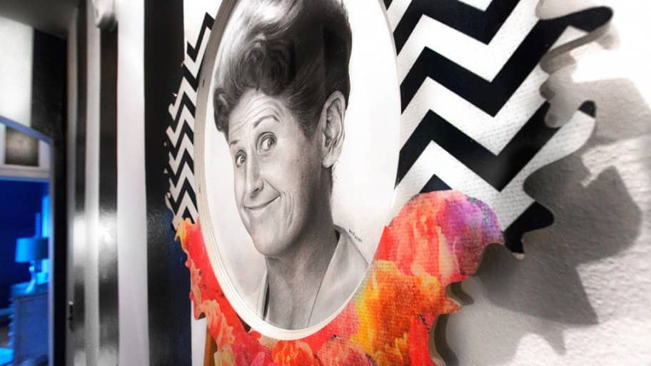 Drawing of Ann B. Davis at Decorators' Show House in Indianapolis