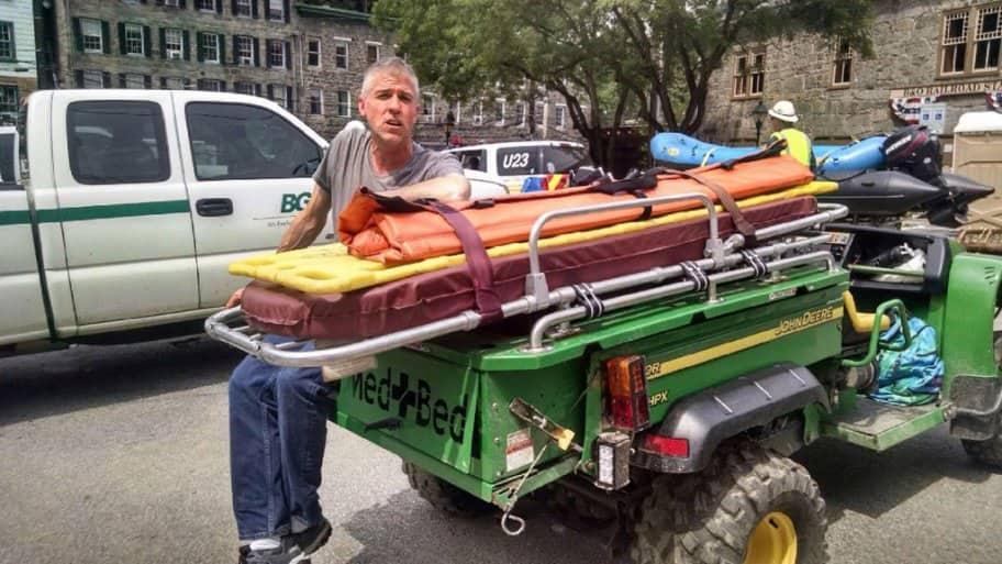 Sam Coyne during recovery work after 2016 Ellicott City, Maryland flood