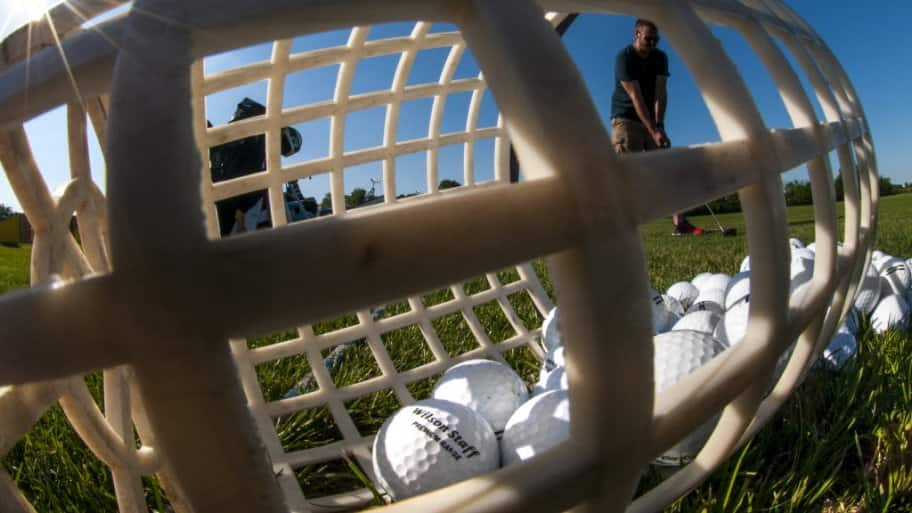 Golf balls and golfer