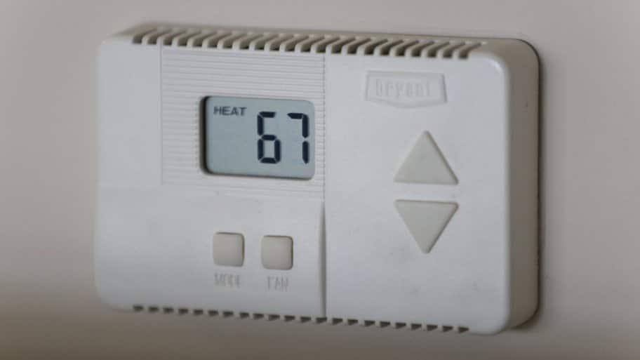 white digital thermostat