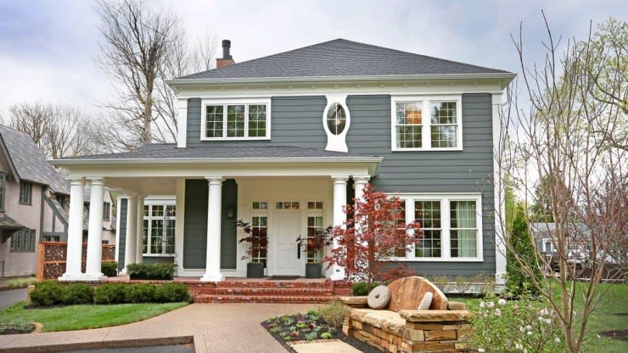 home exterior with unique windows