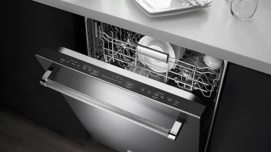 Dishwasher Review: KitchenAid 24 Inch Built In Dishwasher With ProScrub  Option In Stainless Steel KDTE254ESS