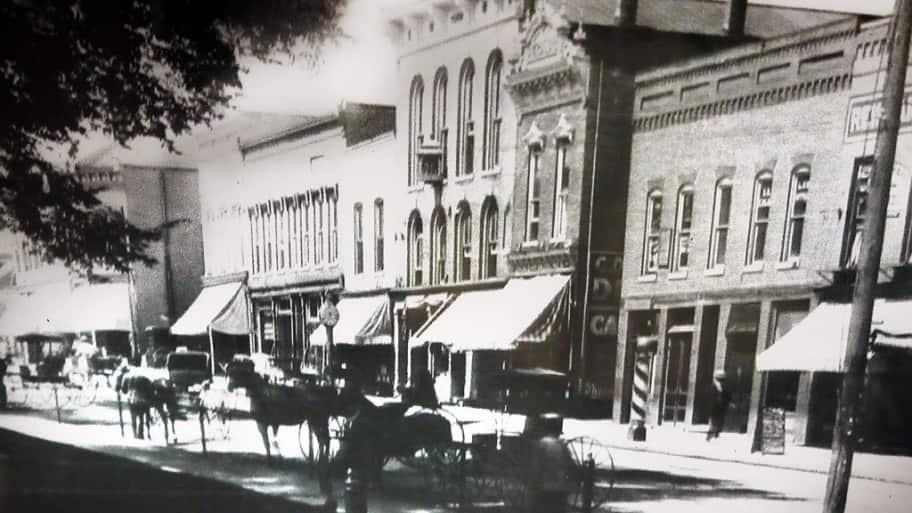 1800s street scene in danville indiana