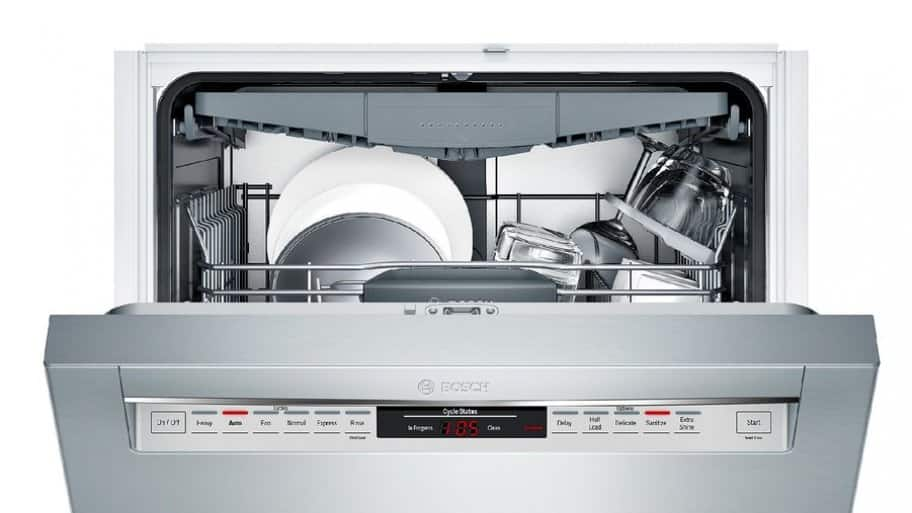 Bosch 800 Series dishwasher in stainless steel SHE68T55UC