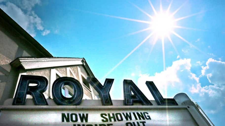 marquee at royal movie theater in danville indiana