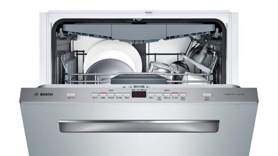 Bosch SHP65T55UC dishwasher in stainless steel