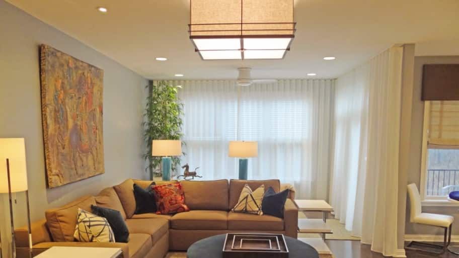 a modern decorated home with four different types of lighting - Types Of Lighting In Interior Design