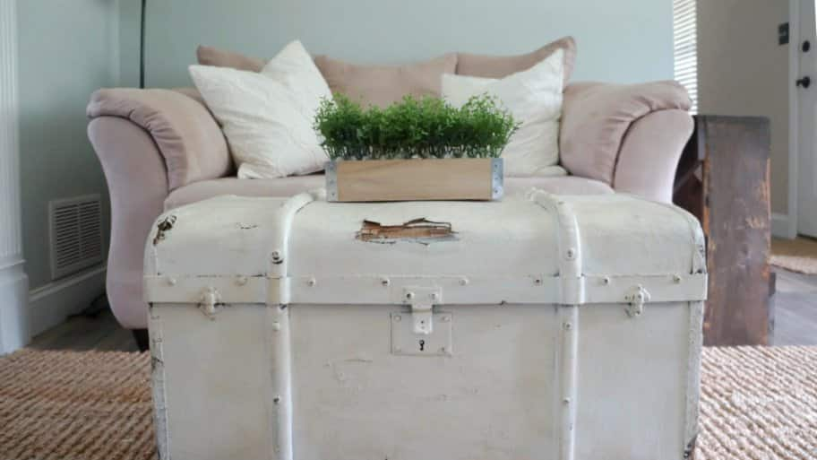 Using An Old Trunk As A Coffee Table Will Add Some Rustic Charm To Your Family Room Photo By Deb Foglia