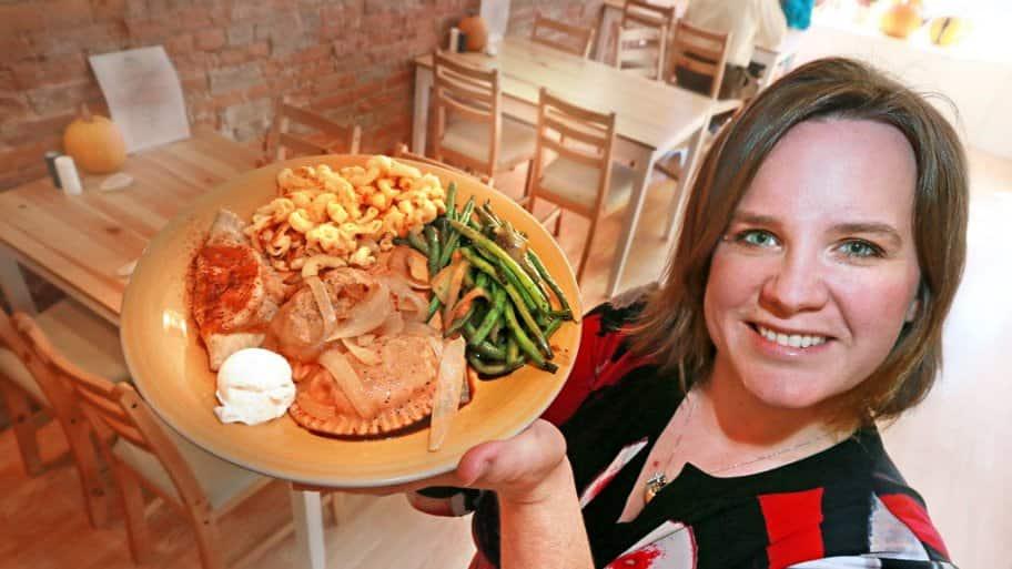 Pendleton, Indiana restaurant owner Jen Cheezum and Pierogi in a Pinch