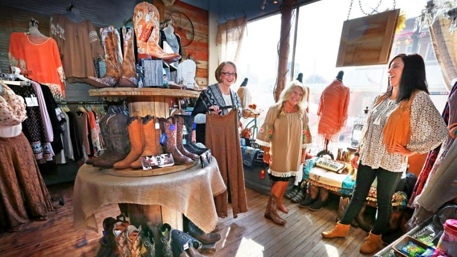 The Rusty Hinge and owner Tracy McCrocklin at Galleria Shops on State Street in Downtown Pendleton, Indiana