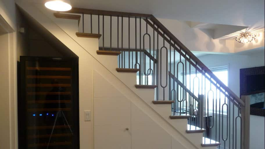 staircase in basement remodel