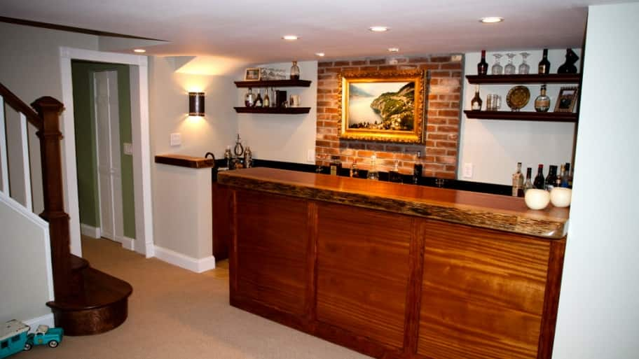 building a bar in your basement angie s list rh angieslist com installing a basement bar sink wiring a basement bedroom