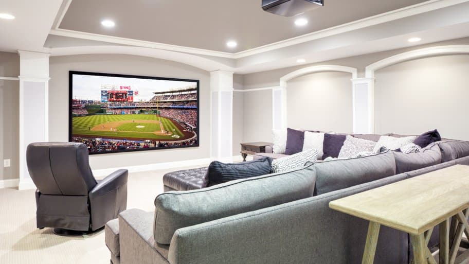 Turn your basement into a home theater or get inspired with other outstanding basement ideas. (Photo courtesy of Moss Building and Design)