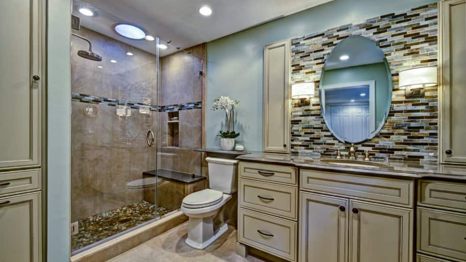 bathroom remodel with accessories