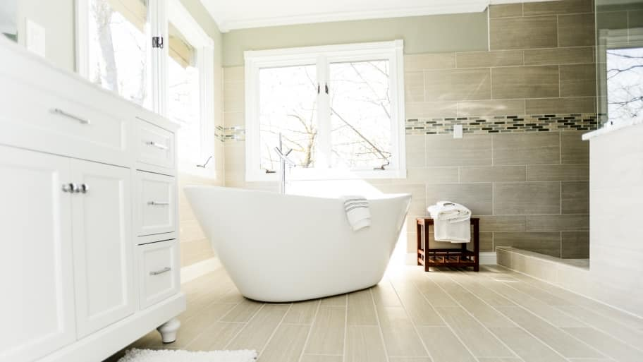 Delighted Bathroom Tile Suppliers Newcastle Upon Tyne Thin Cheap Bathroom Installation Falkirk Shaped Tile Floor Bathroom Cost Grey And White Themed Bathroom Old Grout For Bathroom Tile Repairs RedLaminate Flooring For Bathrooms B Q How Much Does A Bathroom Remodel Cost? | Angie\u0026#39;s List