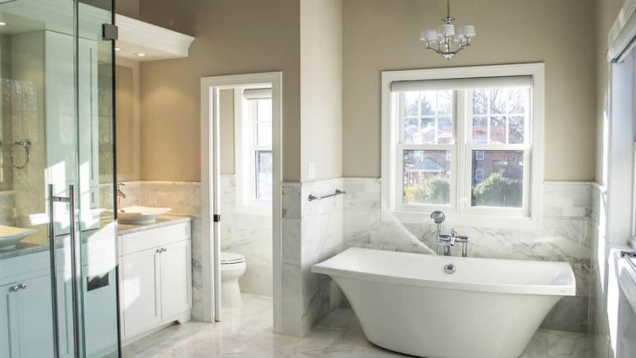 new bathroom remodel with soaking tub