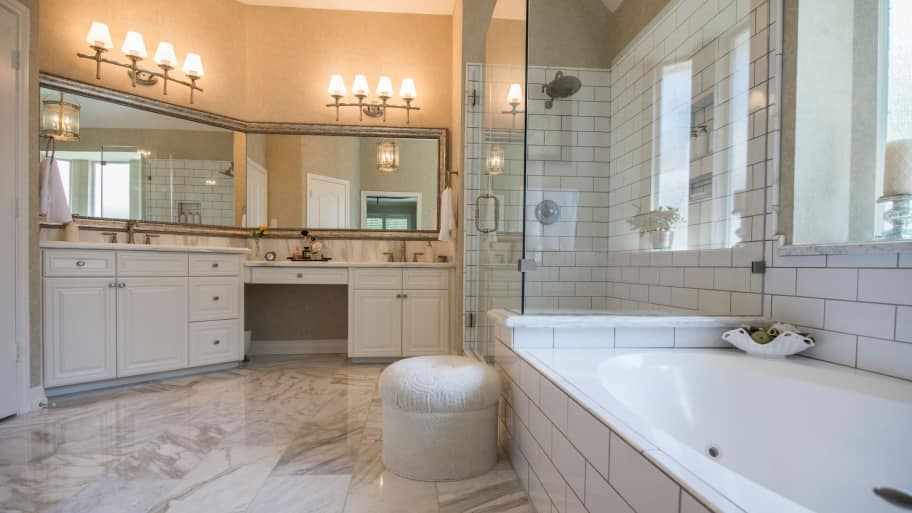 Remodeled Bathrooms With Tile Hire A Tile Contractor For Your Bathroom Remodel  Angie's List
