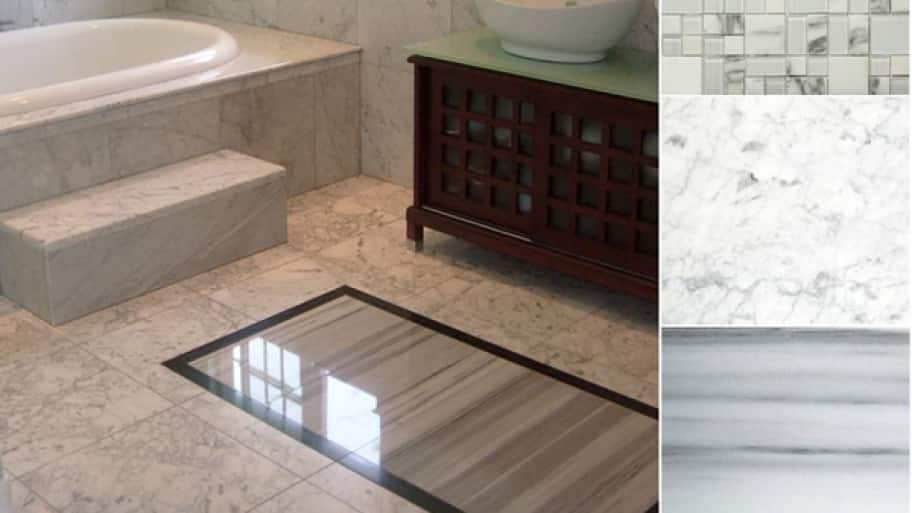 The Most Flooring Effective Choice For A Bathroom Is Tile. (Photo Courtesy  Of DirectBuy