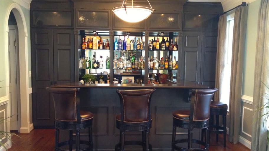 Dining Room Bar These Homeowners Didnt Use Their Living So Designer Remodeler Turned It Into A Functional Space To Fit Lifestyle